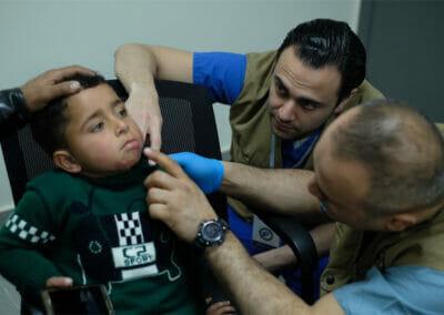 Dr. Moubayed burned child in Lebanon